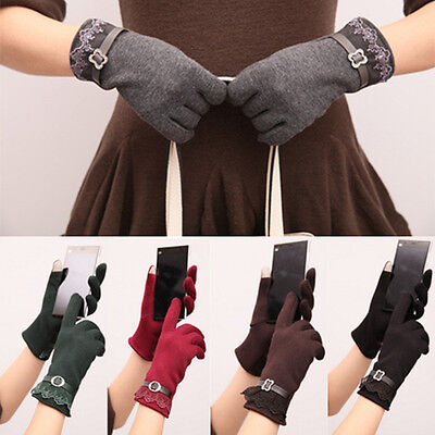 Women Touch Screen Gloves Smartphone Texting Stretch Winter Warm