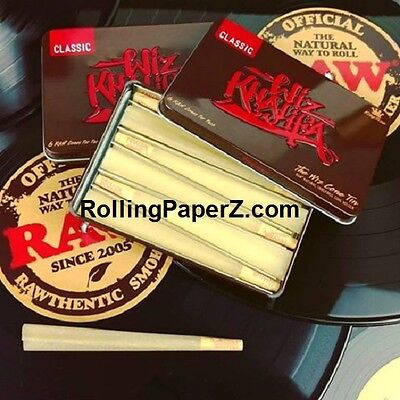 2X RAW Rolling Papers/ Wiz Khalifa CONE Storage TIN/ includes 12 CONES/KING SIZE