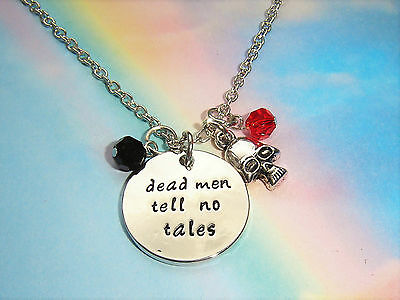 Dead Men Tell No Lies Charms Necklace Pirates Of The Caribbean Jack Sparrow