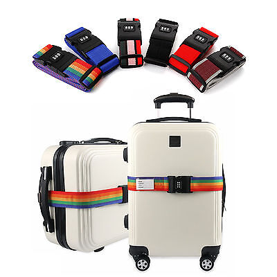 Adjustable Luggage Suitcase Straps Band Baggage Belt Combination Password Lock