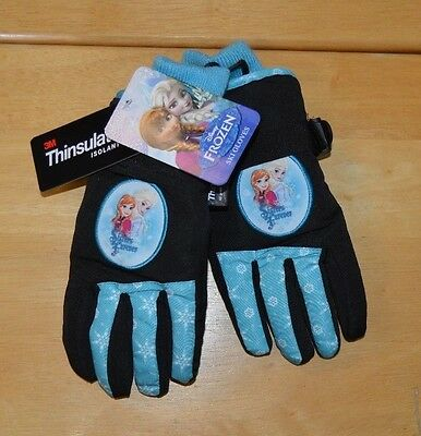 Girl Disney Frozen Winter Ski Gloves 4-16 One Size Adjustable Wrist NWT $28