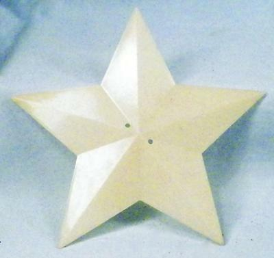 Vintage Christmas Tree Topper Star Part for Electric White Hard Plastic As Is