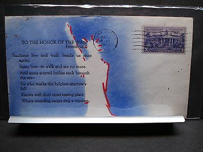 Aircraft Carrier WASP CV-7 Naval Cover 1942 WEIGAND POEM Cachet SUNK WWII