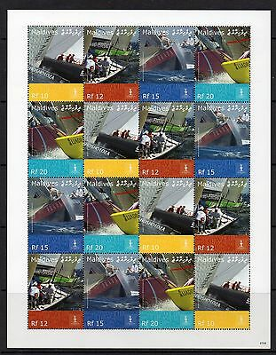 Maldive Islands Sg4162/5 2008 Americas Cup Sheetlet Mnh