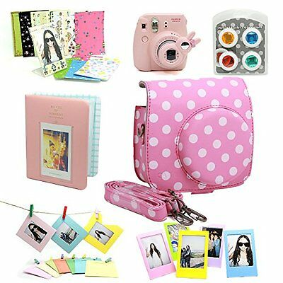 Fujifilm Instax Mini 8 Instant Camera Accessory Bundles Set (Included: Pink V...