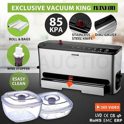 King Rolls Vertical Vacuum Food Sealer Saver Storage Machine 3L Food Containers