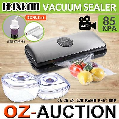 Stainless Steel Vacuum Food Sealer Saver Storage Machine 3L Food Containers
