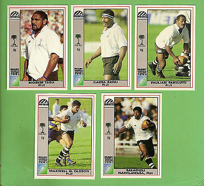 1991  Fiji  Rugby Union World Cup Cards