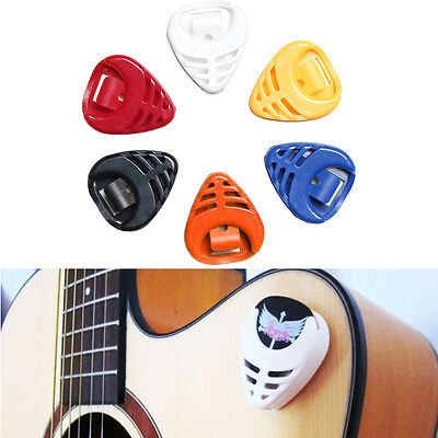 6Pcs Guitar Pick Holder plectrum Box Case Great Musical Gift Fashion