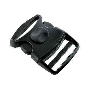 "45I BLSR-2 BLK -  2""  Security Plastic Side Release Buckles with Locking Button"