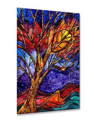 All My Walls Stained Glass Tree by Elaine Hodges Painting