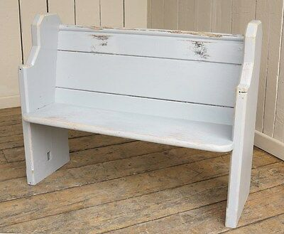 Reclaimed Church Pew - Antique Painted Bench Settle Seating - Pitch Pine Seat • £355.00