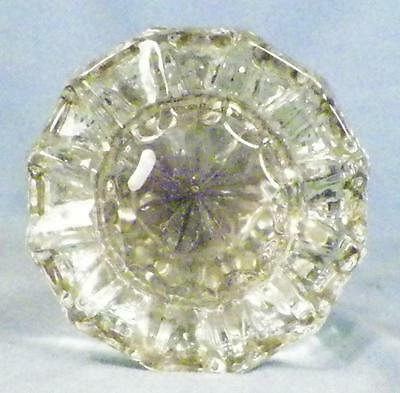 Antique Crystal Door Knob Set Stars Fluted Victorian Architectural Salvage #5