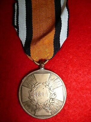 Germany - Prussia - Campaign Medal 1813-15 Combatant's, 1st 'square cross' type