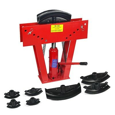 Heavy Duty 16 Ton Hydraulic Manual Pipe Bender 8 Dies Tubing Tube Bending Tool