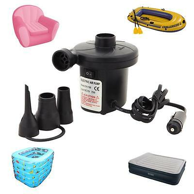 12V Car Auto DC Electric Air Pump Inflator for Air Camping Bed Mattress Boat