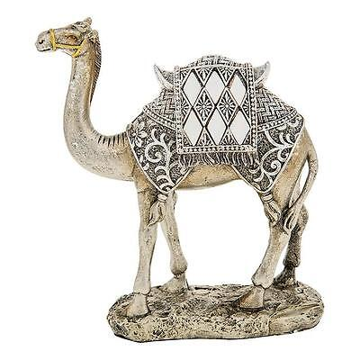 New Mirror and Silver Camel Standing Statue Ornament Figurine 14cm 65027