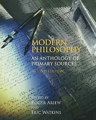 Modern Philosophy: An Anthology of Primary Sources - Paperback NEW Ariew, Roger