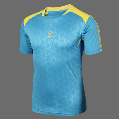 Mens Cycling Running Outdoor Sports Tops Quick Dry Breathable Wicking T-shirts