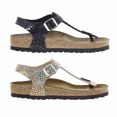 Birkenstock Kairo Birko Flor Regular Fit Womens Shiny Snake Sandals Size UK 4-8