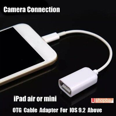 OTG Lightning Male 8 Pin to USB Female Camera USB Cable Connection Adapter