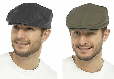 86d5abb17d5 TOM FRANKS MENS Waxed Flat Cap with Tartan Lining - £6.99