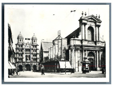 France, Dijon, Eglise Saint Michel Bourse de Commerce Vintage print. Tirage