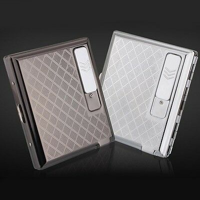 Hotsale Zinc Alloy Cigarette Case With Rechargeable Windproof Flameless USB