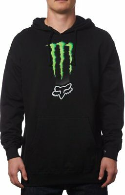 Fox Racing Mens Monster Energy Classic Zebra Pullover Motocross Hoody Sweatshirt