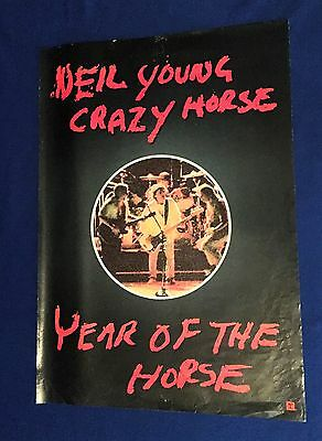 vintage 1997 Neil Young Year of Crazy Horse PROMO POSTER 23x33in USED