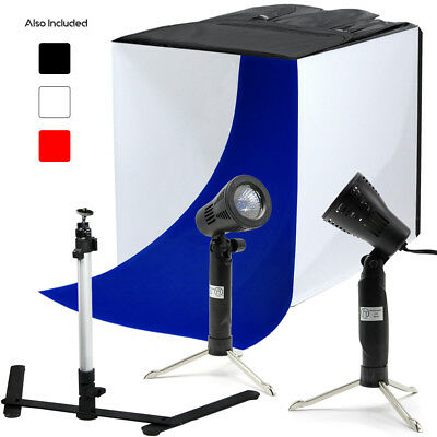 "24"" Studio Lighting In A Box Photography Light Tent Backdrop Photo Kit 60cm"
