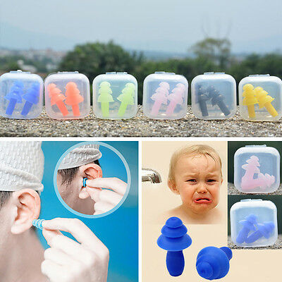 For Study Sleep 1 Pair Silicone Ear Plugs Anti Noise Hearing Protection Earplugs