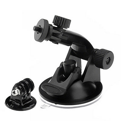 Car Interior Action Camera Suction Cup Mounted+Tripod Adapter Accessory