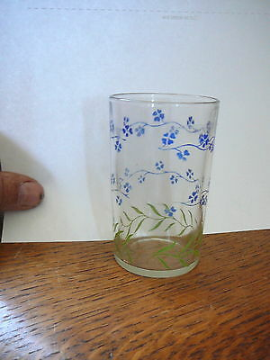 """KRAFT CHEESE - Vintage BLUE FORGET-ME-NOT POSEYS SWANKY SWIG - 3.5"""" TALL - GOOD"""