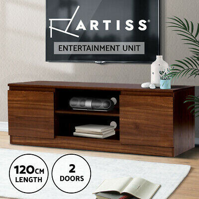 TV Stand Entertainment Unit Side Cabinet Storage Lowline Cupboard Shelf LCD LED