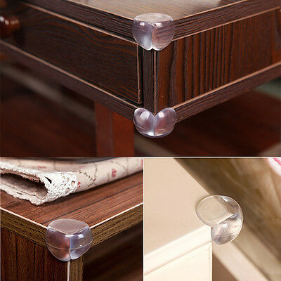 10Pcs Clear Table Desk Corner Edge Guard Cushion Baby Safety Bumper Protector