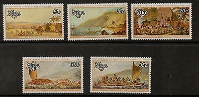 Niue Sg235/9 1978 Bicent Of Discovery Of Hawaii  Mnh