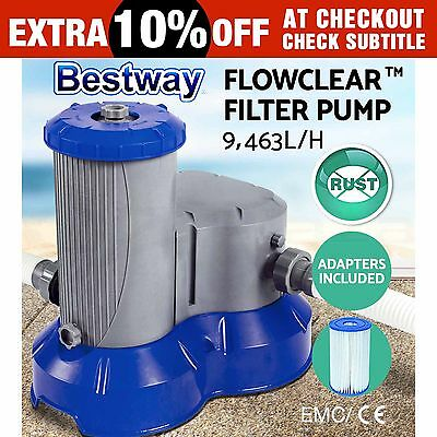New Bestway Flowclear™ Filter Pump Swimming Pool Sand Filter Pump 58391