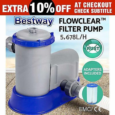 New Bestway Flowclear™ Filter Pump Swimming Pool Sand Filter Pump 58389