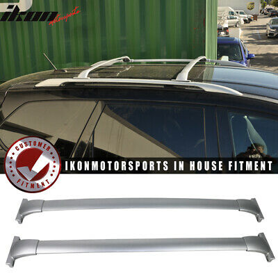For 13-17 Nissan Pathfinder Roof Rack Top Cross Bar Rail Pair - Silver Aluminum