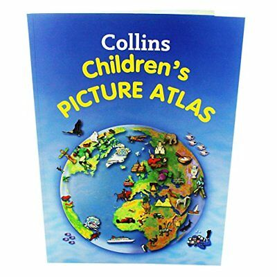 Collins Children Picture Atlas Book The Cheap Fast Free Post