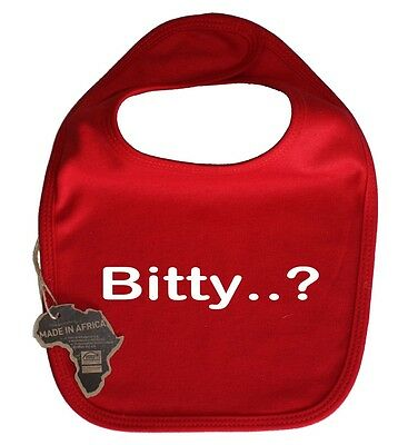 Bitty Cute Baby Dribble Bib Velcro Adorable Present Kid Funny Birthday Present