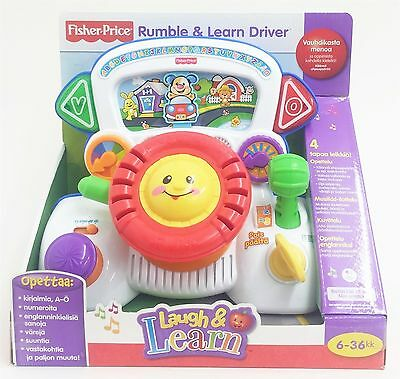 Fisher-Price T7963 Musical Rumble & Learn Driver Toy Finnish to English IMPORT