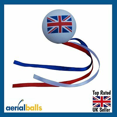 REDUCED...Union Jack Flag GB UK Britsh Proud Ball & Ribbons Car Aerial Topper
