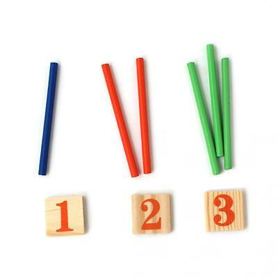 Funny Preschool Wooden Montessori Mathematic Math Counting Sticks for Kids