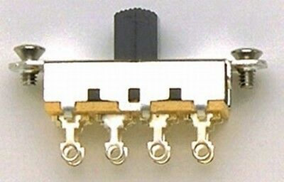 NEW - Switchcraft On-Off-On Slide Switch For Fender Mustang - BLACK
