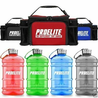 ProElite 6 Meal Management Prep Bag + FREE 2.2l Gallon Jug + Shaker