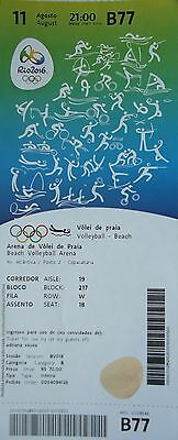TICKET 11.8.2016 Olympia Rio Olympics Beach Volleyball # B77