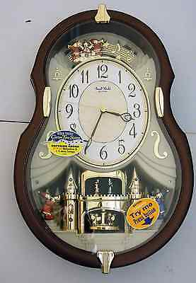 """Rhythm"" Musical Wall Clock - ""The Viola Entertainer"" 4Mh829"