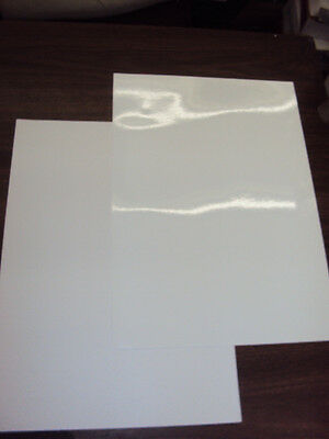 "2 BLANK White Sheets Window Static Cling Decal Vinyl Film 19"" x 13.5"" Waterproof"